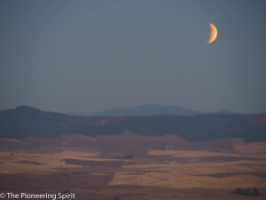 eclipse, Steptoe Butte