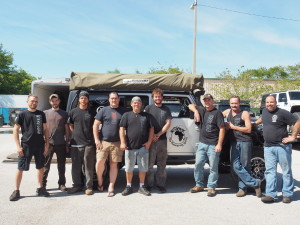 The great team at Bruiser Conversions that transformed our 2007 Jeep Wrangler into Snort