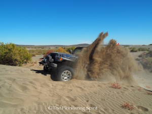Working on getting up some loose sand