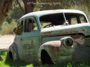 So many old cars throughout the Canyon Roadhouse property